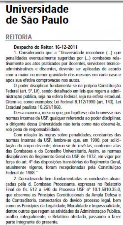 """Aton Fon Filho: """"Reitoria da USP manipula a verdade para justificar expulsão de alunos"""""""