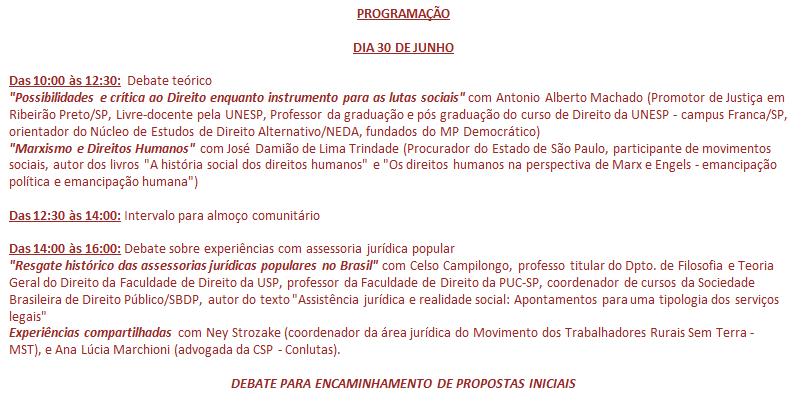 Convite para articulação entre advogad@s e juristas populares – 30/06