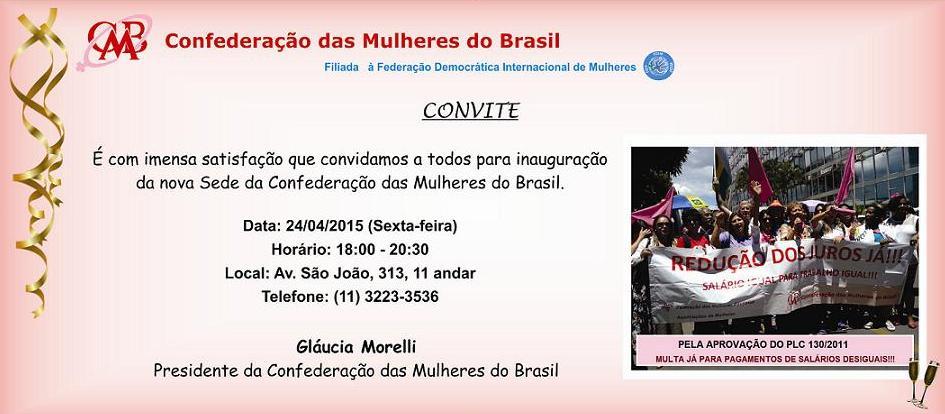 Convite Confederação das Mulheres do Brasil
