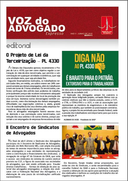 BOLETIM ELETRÔNICO – A Voz do Advogado  | 6° edição