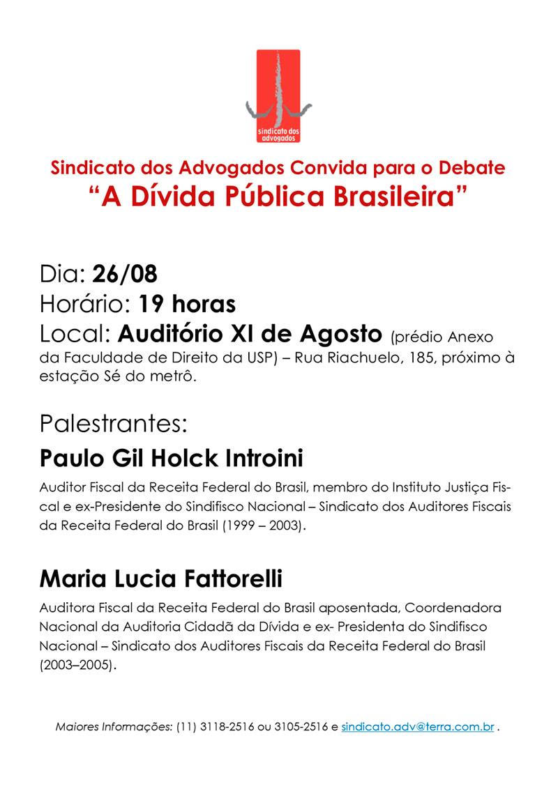 CONVITE: Dívida Pública Brasileira