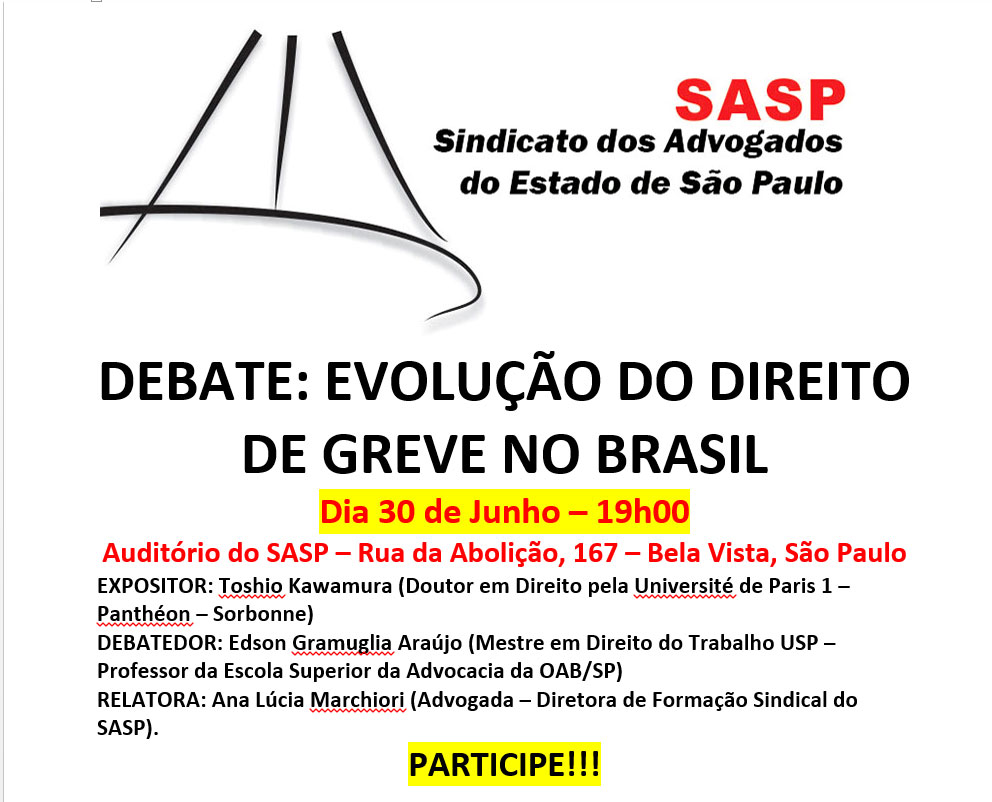 DEBATE: Evolução do Direito de Greve no Brasil