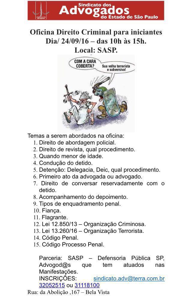 OFICINA: Direito Criminal para iniciantes