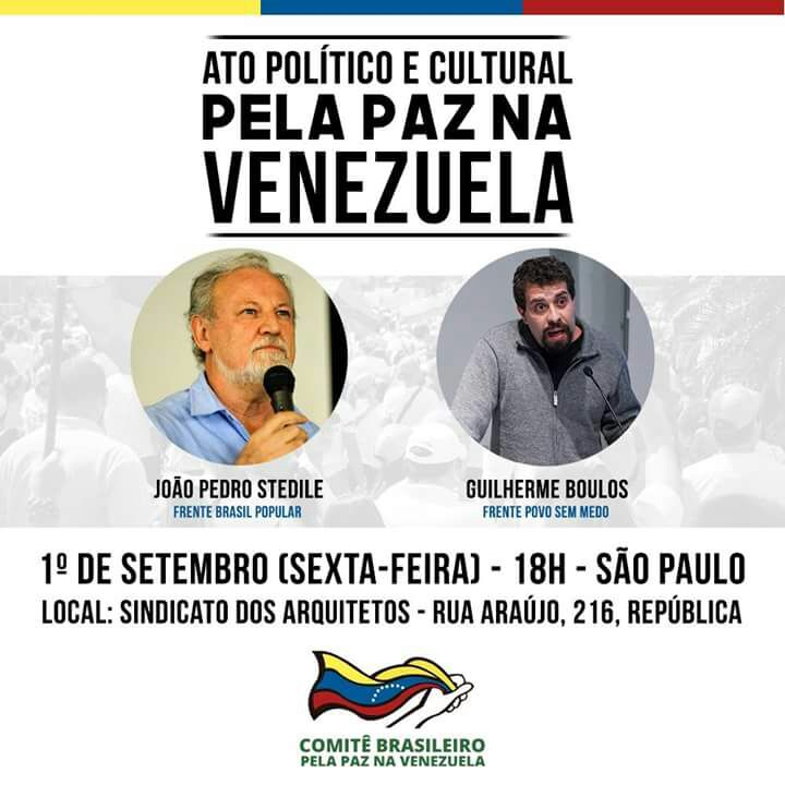 ATO POLÍTICO: PAZ NA VENEZUELA