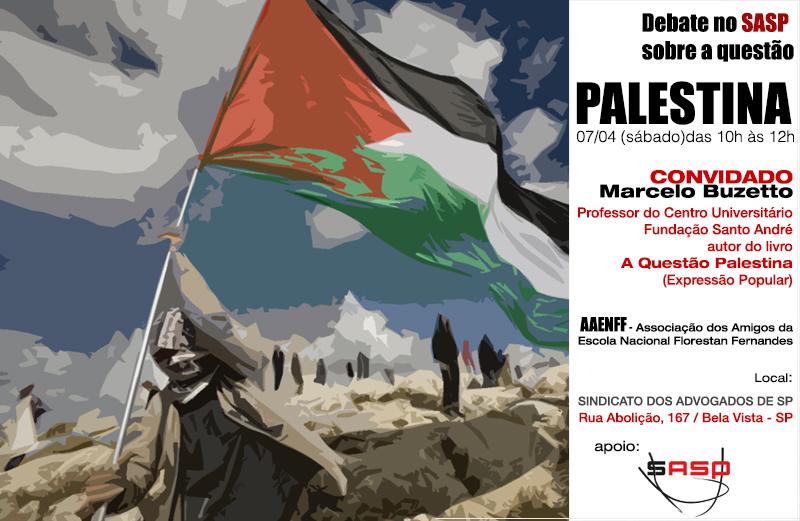 Debate no SASP sobre a questão Palestina