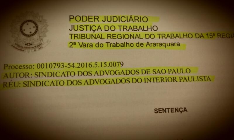 Sindicato de advogados do interior paulista é considerado nulo e tem Carta Sindical cassada