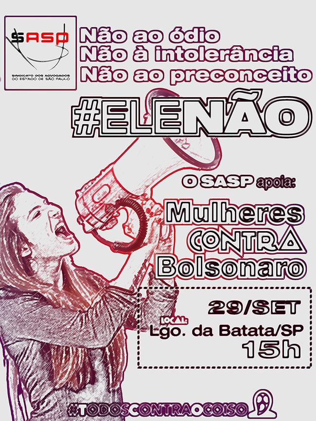 """No Brasil e no mundo, mulheres convocam """"Todos contra Bolsonaro"""""""
