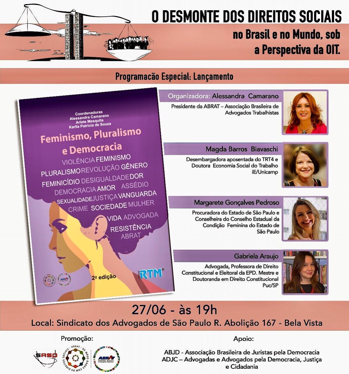 Debate: O desmonte dos Direitos Sociais no Brasil e no mundo