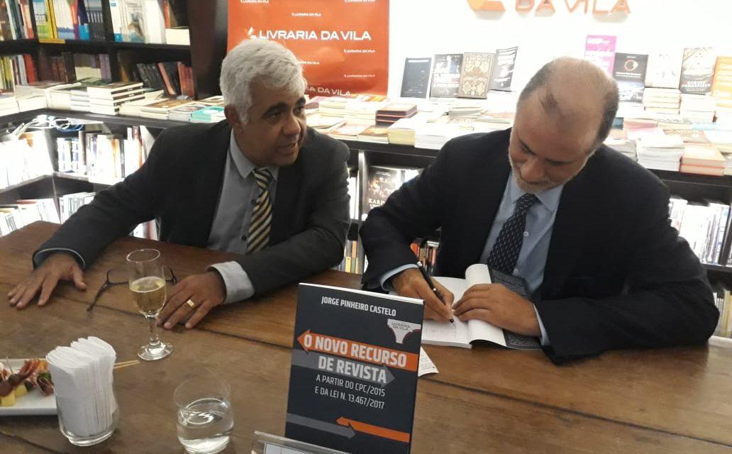 SASP presente no lançamento do livro do Professor Jorge Castelo