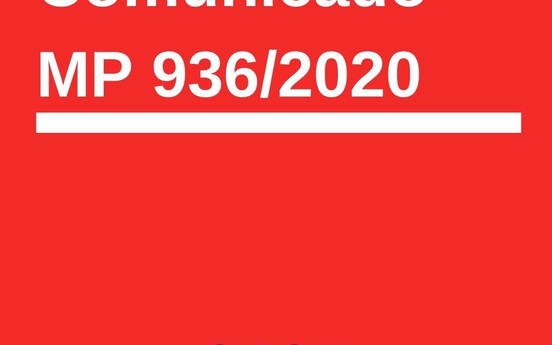comunicado do SASP sobre mp 936/2020
