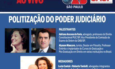 Live: Politização do Poder Judiciário