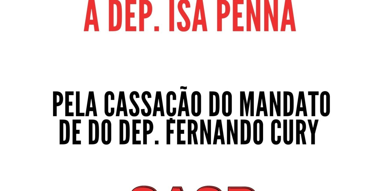 NOTA DE REPÚDIO: SASP se solidariza com Deputada Isa Penna