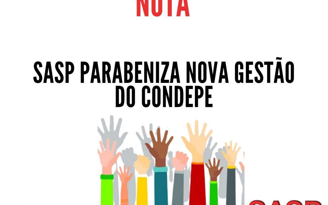 SASP parabeniza nova gestão do CONDEPE