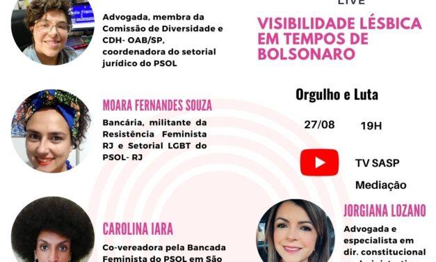 Live: Visibilidade lésbica em tempos de Bolsonaro